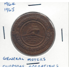 1964 - 1965 General Motors Overseas Operations - Futurama Medallion