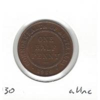 1930 Halfpenny aUnc