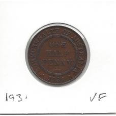 1931 Halfpenny VF