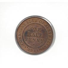 1933 Halfpenny Unc
