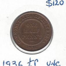 1936 Halfpenny Unc