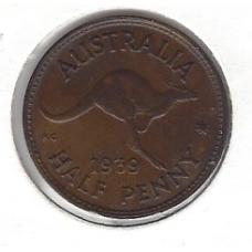 1939 Halfpenny aUnc