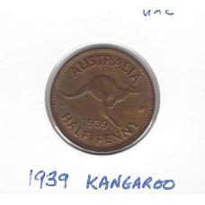 1939 Kangaroo Halfpenny Unc