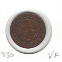 1930 Halfpenny VF