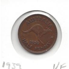 1939 Kangaroo Halfpenny VF