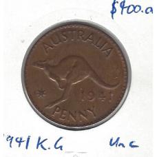 1941K.G Penny Unc