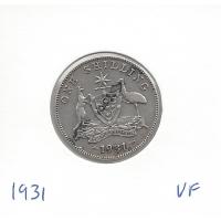 1931 Shilling VF