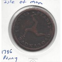 Isle of Man 1786 Penny Fine