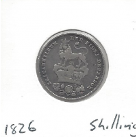Great Britain 1826 Shilling F