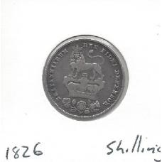 Great Britain 1826 Shilling F