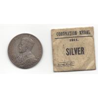 1911 George V Silver Coronation Medallion