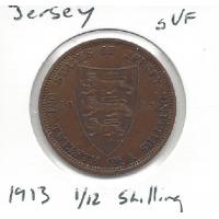1913 Jersey 1/12 Shilling gVF