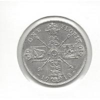 Great Britain 1918 Florin ChUnc