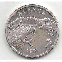 1991 Alaska Silver Medallion