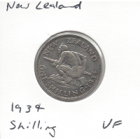 New Zealand 1934 Shilling VF
