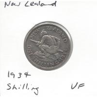 New Zealand 1934 Shilling VF