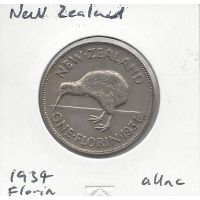 New Zealand 1934 Florin aUnc