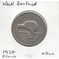 New Zealand 1934 Florin aUnc