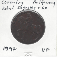 Great Britain 1794 Coventry Halfpenny VF