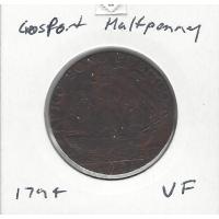 Great Britain 1794 Gosport Halfpenny VF