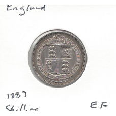Great Britain 1887 Shilling EF