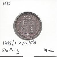 Great Britain 1888/7 Overdate Shilling Unc