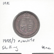 Great Britain 1888/7 Overdate Shilling Unc