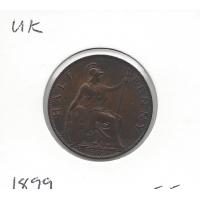 Great Britain 1899 Halfpenny EF