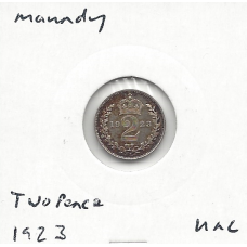 Great Britain 1923 Twopence Unc (Maundy Coin)