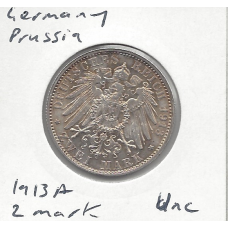 Germany (Prussia) 1913A 2 Mark Unc