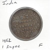 India 1862 1 Rupee Fine