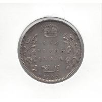 India 1903 1 Rupee VF
