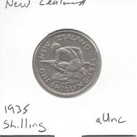 New Zealand 1935 Shilling aUnc