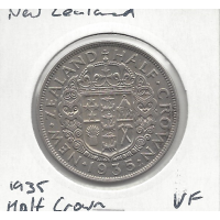 New Zealand 1935 Half Crown VF