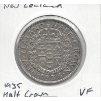 New Zealand 1935 Half Crown VF