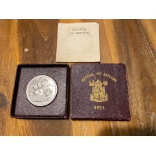 Great Britain 1951 Festival Of Britain Proof Crown with Original Box and COA